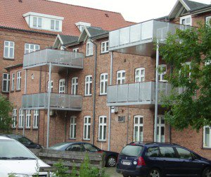 Billede af altaner på etageejendom