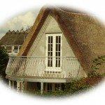 buet altan på hus med stråtag