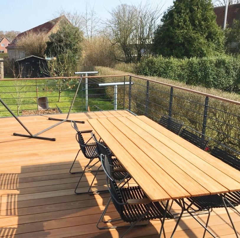 Høj terrasse, Duplex lakeret