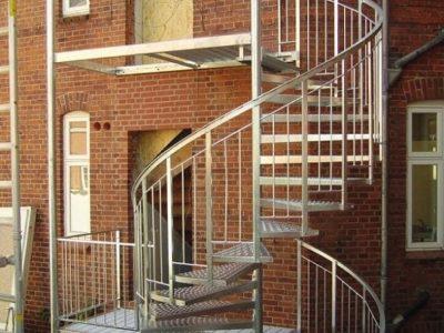 Trappe og gelænder i stål